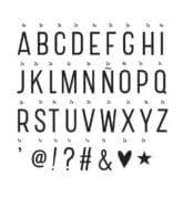 Lettres pour lightbox