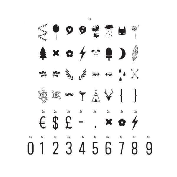 Chiffres & symboles (pour Lightbox) - A Little Lovely Company - Songes - LTBX_03