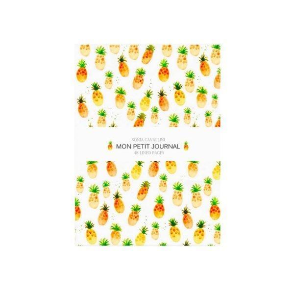 Carnet - Ananas - Sonia Cavallini - Songes - NB0003