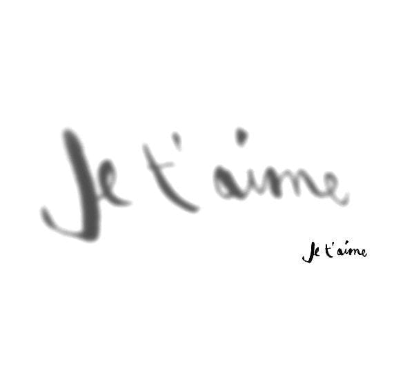 Sticker ombre - Je t'aime - Poetic Wall - Songes - OJTM