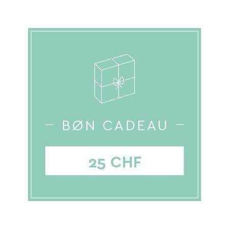 Bon cadeau 25 CHF