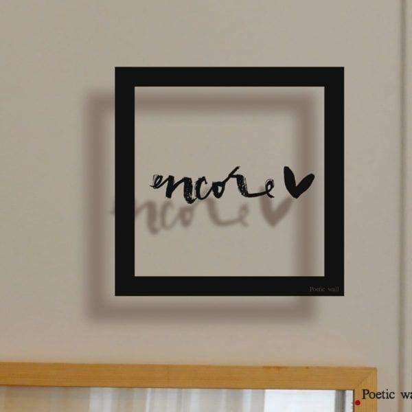 Sticker cadre - Encore - Poetic Wall - Songes - cadre_encore