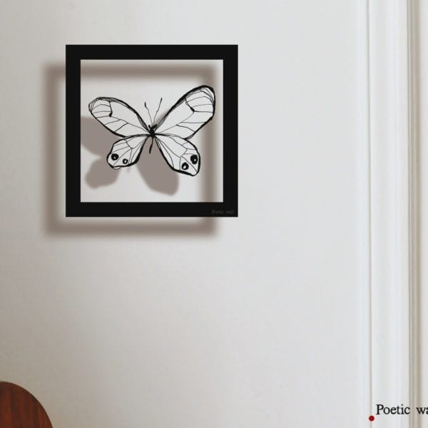 Sticker cadre - Papillon - Poetic Wall - Songes - cadre_papillon