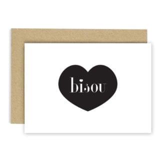 Carte de voeux - Bisou