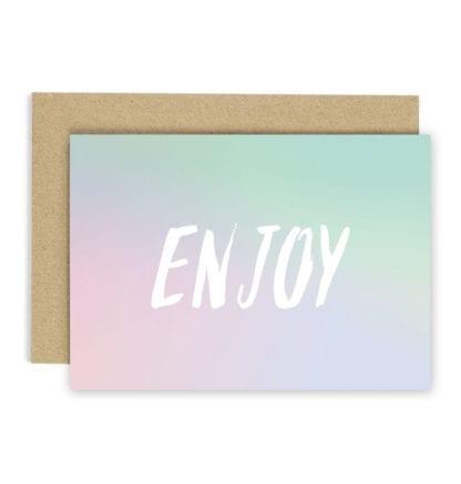Carte de voeux - Enjoy