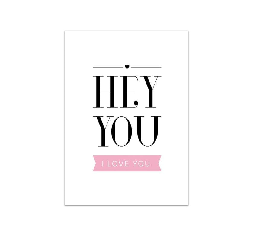 Carte de voeux - Hey you I love you