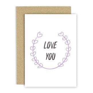 Carte de voeux - Love you