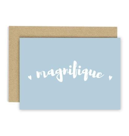 Carte de voeux - Magnifique