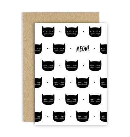 Carte de voeux - Meow