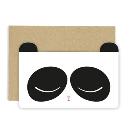 Carte de voeux - Panda