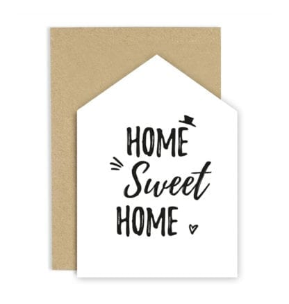 Carte de voeux - Sweet home