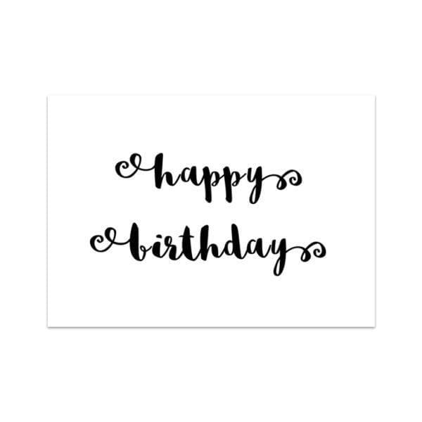 Carte de voeux - Happy birthday - Songes - Songes - carte_HB_NOIR