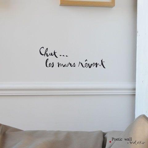 Sticker - Chut les murs rêvent - Poetic Wall - Songes - chut_les_murs_revent