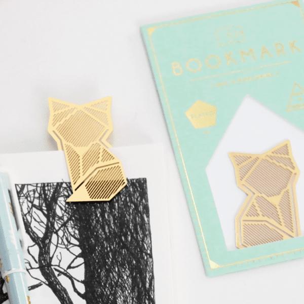 Marque-page doré - Renard - Hug a Porcupine - Songes - fox-gold-bookmark02