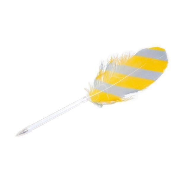 Stylo - Rayé jaune - Hay - Songes - hay-feather-yellow