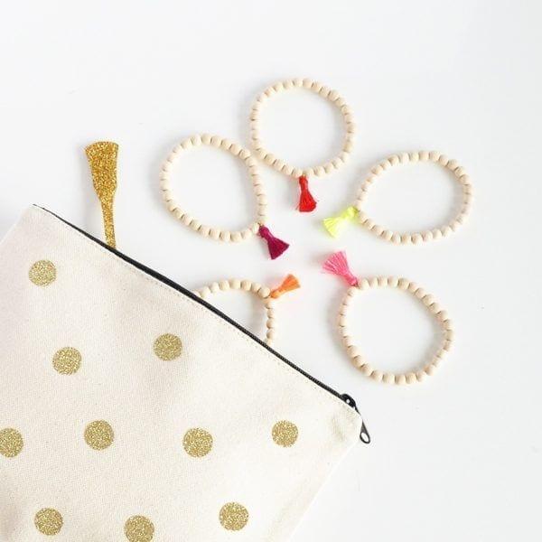 Pochette - Pois dorés - Petite Mila - Songes - idee-cadeau