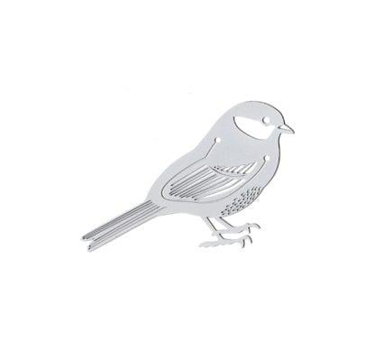 Marque-page - Oiseau argenté