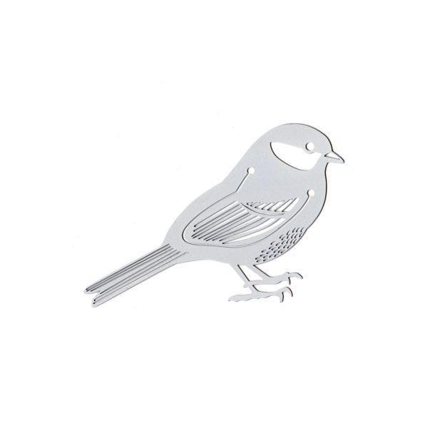 Marque-page - Oiseau argenté - Hommin - Songes - mp-argente