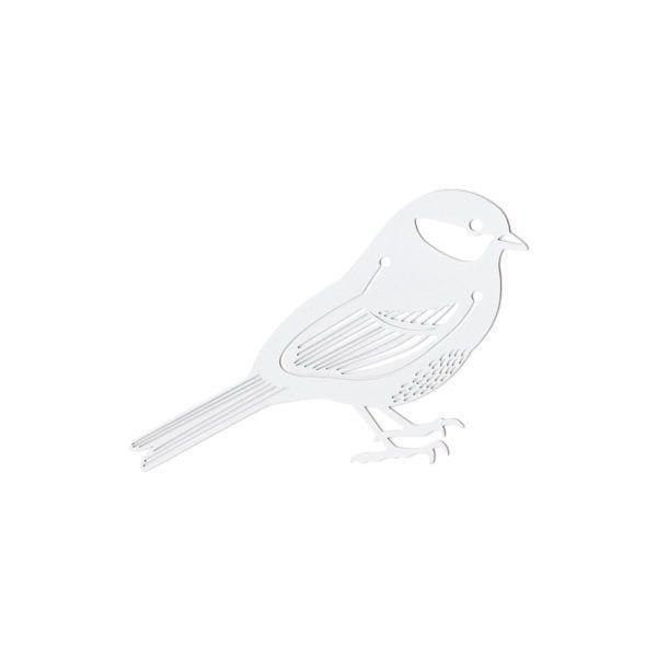 Marque-page - Oiseau blanc - Hommin - Songes - mp-blanc