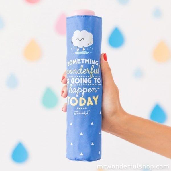 Parapluie - Something wonderful - Mr. Wonderful - Songes - mrwonderful_8435460706933_paraguas_something-wonderful-is-going-to-happen-today-en-editar