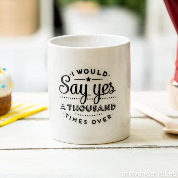 Mug - Say yes - Mr. Wonderful - Songes - mrwonderful_mug_to_basic_won80_say-yes-1