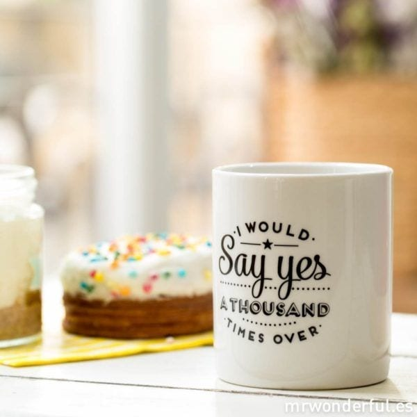 Mug - Say yes - Mr. Wonderful - Songes - mrwonderful_mug_to_basic_won80_say-yes-2