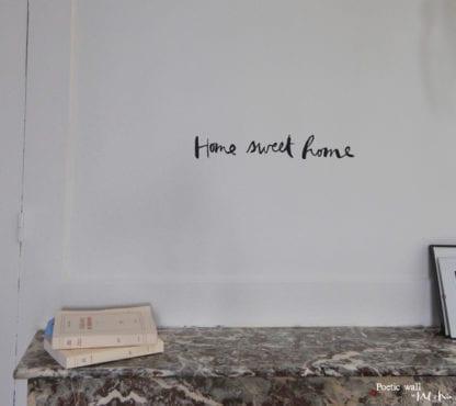 Sticker mural - Home sweet home