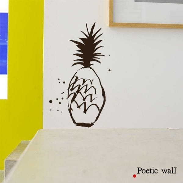 Sticker - Ananas - Poetic Wall - Songes - poeticwall-stickers-gros-ananas