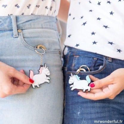 Porte-clés licornes