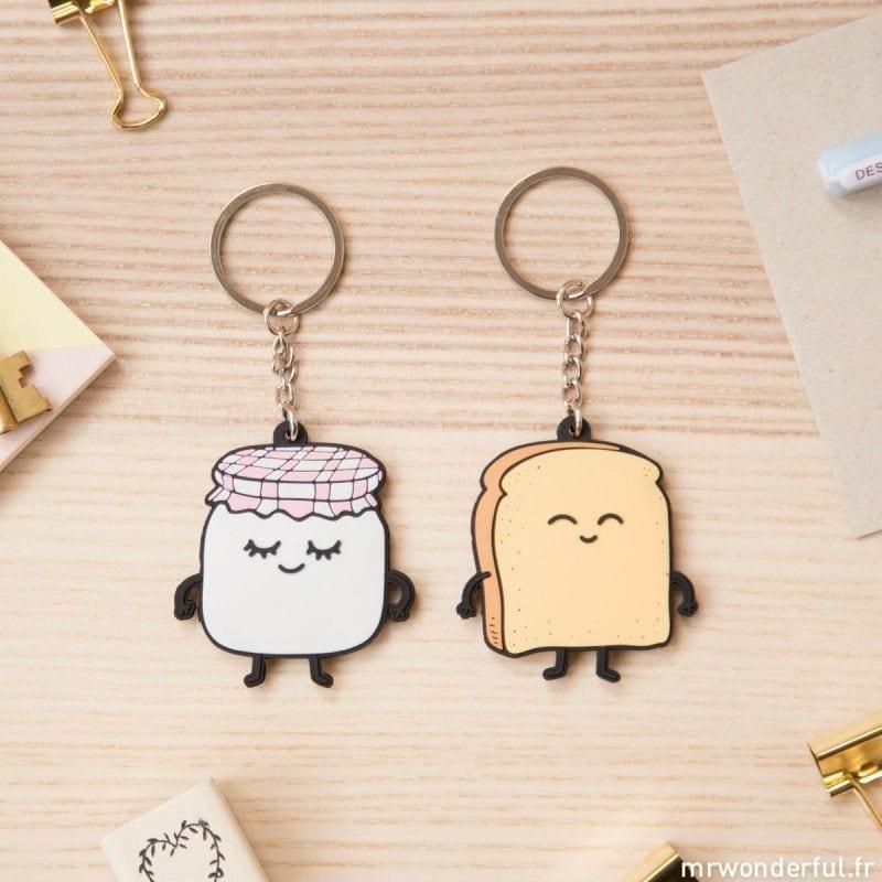 Porte-clés toast & confiture