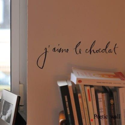 Sticker mural - J'aime le chocolat