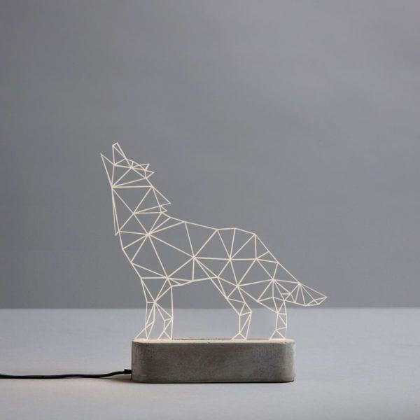 Lampe LED - Loup - Sturlesi Design - Songes - sturlesi_loup