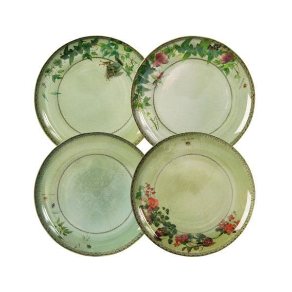 Set de 4 assiettes - Yuan gris - Ibride - Songes - yuan_grey_extra_SET