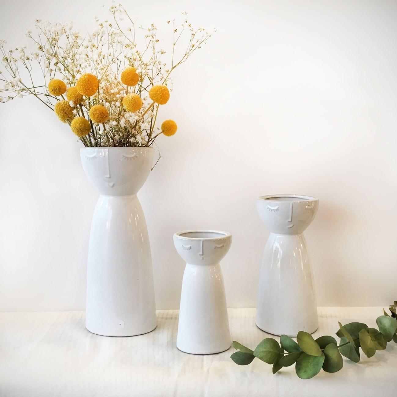 Vases visage Hübsch