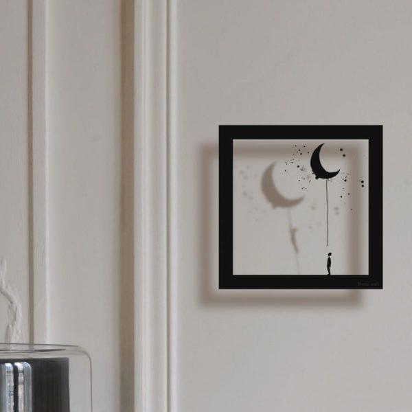 Sticker cadre - La lune - Poetic Wall - Songes - cadre_lune