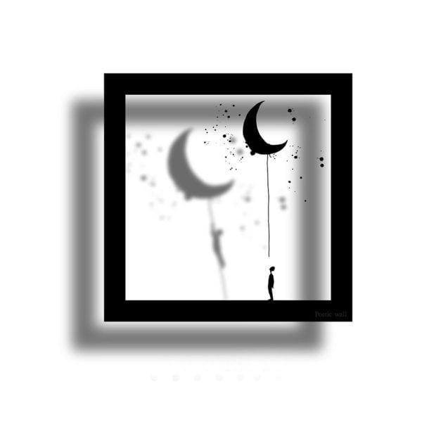 Sticker cadre - La lune - Poetic Wall - Songes - cadre_lune01