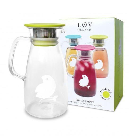 Lovely Carafe 1L - Vert - Lov Organic - Songes - carafe_verte_pack
