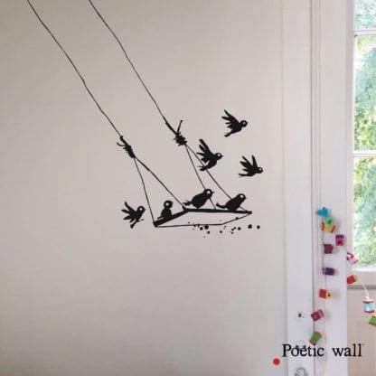 Sticker mural - La balançoire