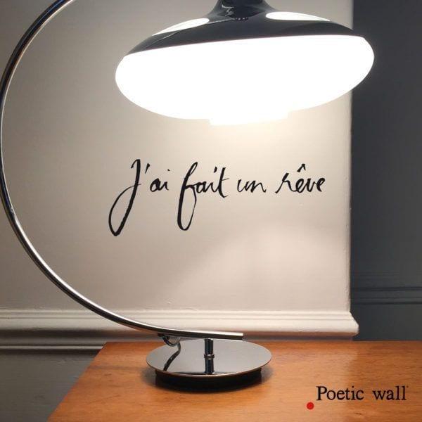 Sticker - J'ai fait un rêve - Poetic Wall - Songes - stickers-poeticwall-j-ai-fait-un-reve