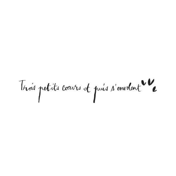 Sticker - Trois petits cœurs - Poetic Wall - Songes - trois-petits-coeurs