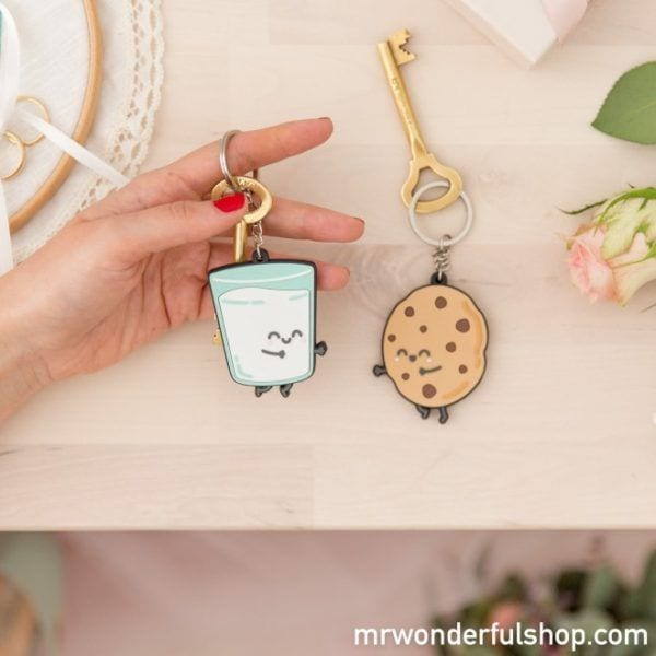 Porte-clés - Lait & Cookie - Mr. Wonderful - Songes - mrwonderful_8435460713351_llavero-boda_keyring_for_sweet_couples-eng-7_1
