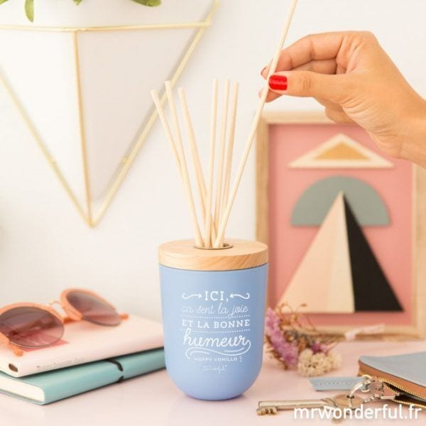 Diffuseur - Happy vanilla - Mr. Wonderful - Songes - mrwonderful_woa03819fr_8435460715362_mikado_ici-ca-sent-la-joie_fr-3