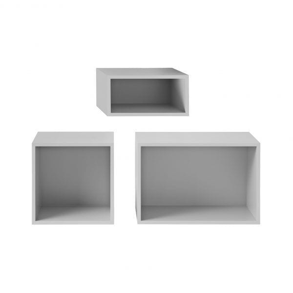 Étagère Stacked - Gris clair - Muuto - Songes - Stacked_light_grey_back