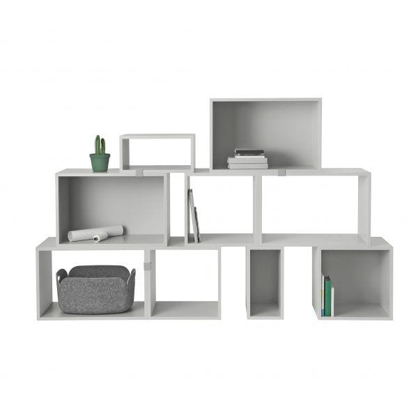 Étagère Stacked - Gris foncé - Muuto - Songes - Stacked_light_grey_group