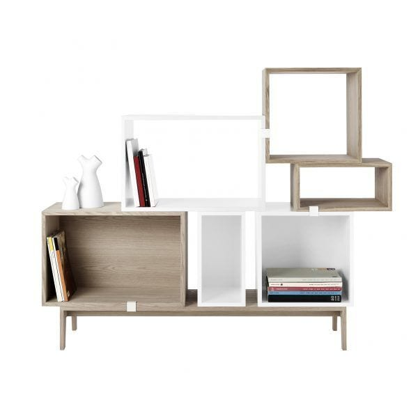 Étagère Stacked - Gris foncé - Muuto - Songes - Stacked_on_podium