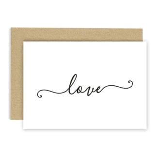 Carte de voeux - Love