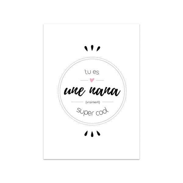 Carte de voeux - Nana cool - Songes - Songes - carte-nana-cool