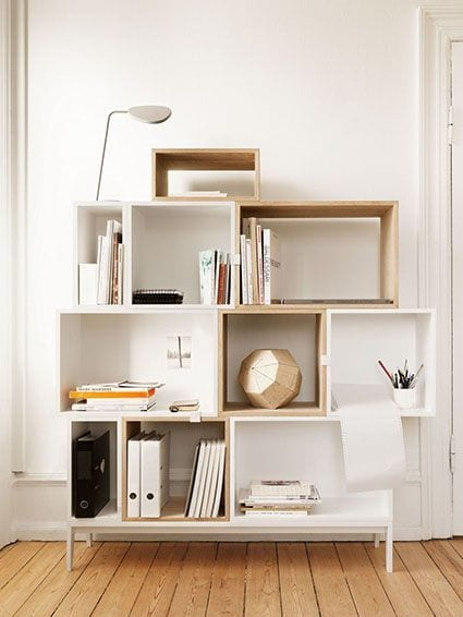 Étagère Stacked - Gris clair - Muuto - Songes - Muuto