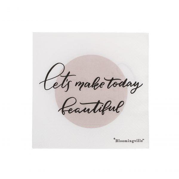 Serviettes - Beautiful - Bloomingville - Songes - 31007520