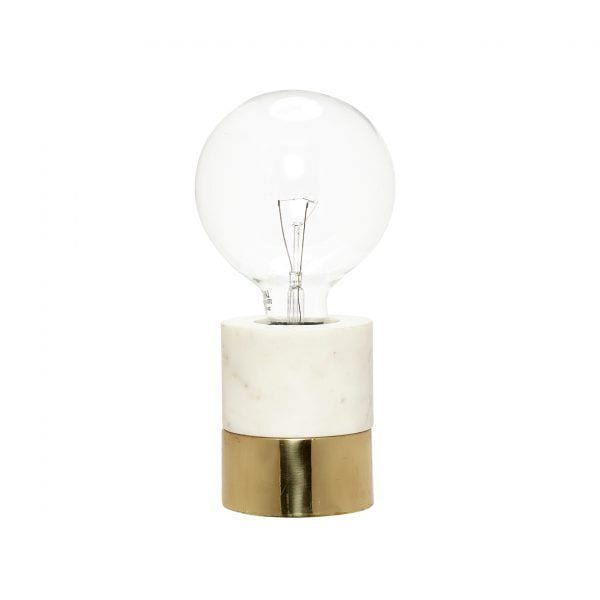 Lampe - Doré/marbre - Hübsch - Songes - 519007
